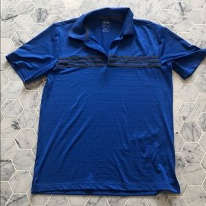 Adidas pure emotion blue golf shirt size small